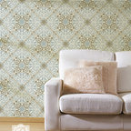 Toubkal Lace Moroccan Stencil - This beautiful Toubkal Lace Allover Stencil from Royal Design Studio is exotic and elegant at the same time. Stencil it in tone-on-tone colors for a delicate lace feel, or paint it in complementing hues for an intricate tile pattern effect.
