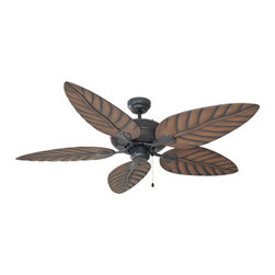 DHI-Corp - Martinique 52-inch 5-Blade Ceiling Fan, Chestnut Blades, Oil Rubbed Bronze - The Design House 154104 Martinique 52-Inch 5-Blade Ceiling Fan features a tropical design and an oil rubbed bronze finish. Use the pull chain to control your 3-speed motor and toggle between three different speed settings. The (5) leaf-shaped fan blades have a chestnut finish. Choose between close-up, 4-inch downrod or vaulted mount for angled ceilings. Run the motor in reverse to help conserve energy costs during all seasons. Blades can be run on the normal setting during the summer to create cooling air flow and on reverse in the winter to re-circulate warm air from the ceiling. This fan is UL listed, rated for 120-volts and is approved for damp areas. Measuring 52-inches, this fixture adds a dramatic accent to any home or condominium. The Design House 154104 Martinique 52-Inch 5-Blade Ceiling Fan comes with a 10-year limited warranty that protects against defects in materials and workmanship. Design House offers products in multiple home decor Categories including lighting, ceiling fans, hardware and plumbing products. With years of hands-on experience, Design House understands every aspect of the home decor industry, and devotes itself to providing quality products across the home decor spectrum. Providing value to their customers, Design House uses industry leading merchandising solutions and innovative programs. Design House is committed to providing high quality products for your home improvement projects.