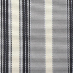 Stripe - Grey/Black Upholstery Fabric - Item #1010017-285.
