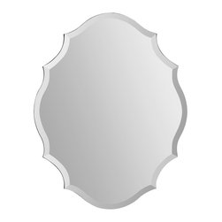 Ren-Wil - Ren-Wil MT1255 Portrait Emma in All Glass - This uniquely shaped beveled mirror adds the perfect finishing touch to any room.