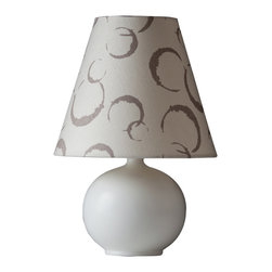 Ziqi Home - Lanting - You've always been on the ball when it comes to your home's decor. That's why you'll appreciate this delightful table lamp, featuring a high-fire porcelain ball base and printed linen shade.
