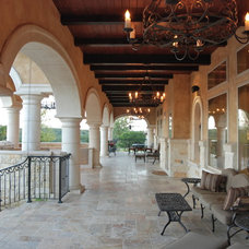 Mediterranean Patio by Stadler Custom Homes