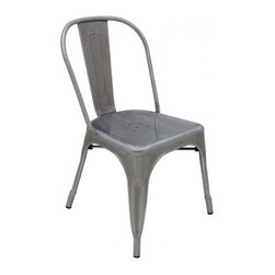 "Nuevo Living - Ferrer Small Dining Chair by Nuevo - Indoor or Outdoor - HGMS150 - The Ferrer small dining chair featured a galvanized steel finish which makes it suitable for indoor or outdoor use.  The seat height is 17.5"" and seat depth is 13.5""."