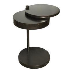 NOIR - NOIR Furniture - Ebba Side Table in Metal - GTAB394MT - Features: