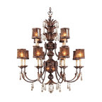 Metropolitan - Metropolitan N6079 14 Light 2 Tier Candle Style Crystal Chandelier Sang - Fourteen Light Two Tier Candle Style Crystal Chandelier from the Sanguesa CollectionFeatures: