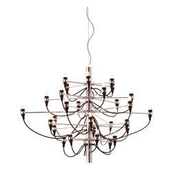 Zuo - Bradyon Chandelier - The Bradyon Chandelier is a sculptural masterpiece. Like birds in flight, each of the 30 lights are suspended on spindly chrome arms and exposed cable. A strong metal core at the center of the fixture anchors to more than 9.5 feet of adjustable cable and a coordinating ceiling plate. Every angle of the Bradyon Chandelier showcases the fixture's sleek mix of materials. Choose this bold design for a contemporary foyer, living room or dining room. Or group multiple fixtures for a dramatic display in a large space. This mod light fixture will command attention and make an unforgettable statement.