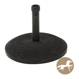 Christopher Knight Home - Christopher Knight Home Black Umbrella Base - The Christopher Knight Home umbrella base ensures that your umbrella will remain securely intact with style and practicality. Built out of solid steel and concrete, the 55 pound base can accommodate an umbrella as large as 12 feet.