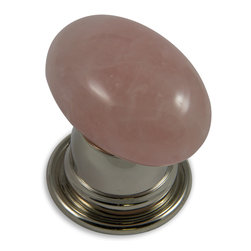 Door Knobs - Rose Quartz Oval Door Knob with Bel Rose in Polished Nickel Finish - See more at: http://elegancealways.com/oval-door-knob/#sthash.bm72TjyT.dpuf