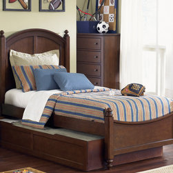 None - Liberty Abbott Ridge Twin Bed Twin Trundle and Nightstand Set - Have all the bedroom furniture you need with this attractive twin bed with trundle and nightstand set. Featuring French and English dovetail construction, felt-lined drawers and turned bun feet, this stylish set has a warm cinnamon finish.