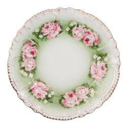 Vintage Small Plate - How about serving decadent pastries on this gorgeous rose-covered plate?