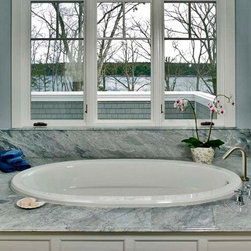 Bardiglio Imperiale Marble Tub Deck - Photography by Darren Setlow