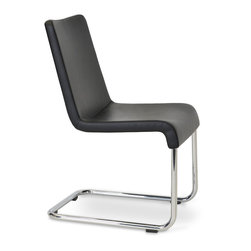 Reis Chair by sohoConcept - The Reis Chair is a masterpiece of structure, paying tribute to early modernism's gravity-defying skyscrapers. Designed by our studio in Istanbul to have a cantilevered base, the Reis offers the comfort of an armchair without the old-line stuffiness or bulk of upholstery. Weighty bar stock steel lends the chair its strength and boasts seamless joints and hidden hardware. A lengthy triple-plate chroming process ensures a resilient, rust-resistant mirror-quality finish. The padded seat is upholstered in with various fabric/material options for long-enduring appearance retention and ease of maintenance-two especially important features for offices and waiting areas.