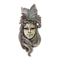 TLT - 20.5 Inch Venetian Mystique Butterfly Mask Wall Plaque, Bronze - This gorgeous 20.5 Inch Venetian Mystique Butterfly Mask Wall Plaque, Bronze has the finest details and highest quality you will find anywhere! 20.5 Inch Venetian Mystique Butterfly Mask Wall Plaque, Bronze is truly remarkable.
