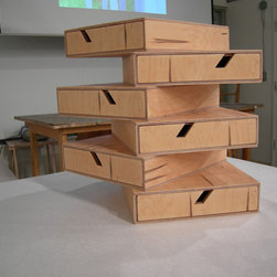 Twisted Drawers - Drawers for filing, bills and office supply storage.