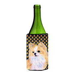 Caroline's Treasures - Chihuahua Candy Corn Halloween Portrait Wine Bottle Koozie Hugger SS4266LITERK - Chihuahua Candy Corn Halloween Portrait Wine Bottle Koozie Hugger SS4266LITERK Fits 750 ml. wine or other beverage bottles. Fits 24 oz. cans or pint bottles. Great collapsible koozie for large cans of beer, Energy Drinks or large Iced Tea beverages. Great to keep track of your beverage and add a bit of flair to a gathering. Wash the hugger in your washing machine. Design will not come off.