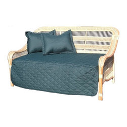 Spice Island Wicker - Casual Daybed in Natural - Futon mattress and pillows not included. Made from wicker. Assembly required. 84 in. L x 40.5 in. W x 46 in. H (35 lbs.)