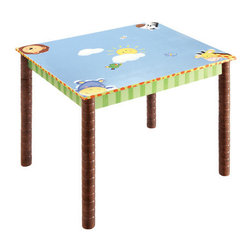 Teamson Kids - Sunny Safari Kids Coffee Table - Features: -Writing table.-Goes very well with the sunny safari chair.-Perfect for any child to have their favorite meal on, enjoy a snack, play their favorite board / card game or just enjoy study time.-Collection: Sunny Safari.-Distressed: Yes.Dimensions: -Overall Product Weight: 20 lbs.