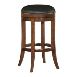 EuroLux Home - New Stool Bar  Waxed Cherry Finish Hardwood - Product Details