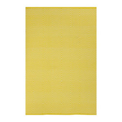 Fab Habitat - Zen - Yellow & White Rug (5' x 8') - Step onto this diamond and you're sure to hit a home run. This magnificent rug, which sports a series of concentric-diamond patterns, attracts visitors and spectators, and turns them into diehard fans of your home (field).