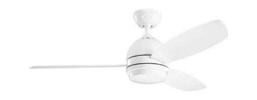 "Kichler - Kichler 300175WH Vassar 52"" Indoor Ceiling Fan 3 Blades - Remote, Light - Kichler 300175 Vassar Ceiling Fan"