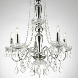 Royal Collection 5 Lights Crystal Chandelier - I don't think there is anything more glamorous than a chandelier in a closet, and this one is a bargain at only $99.