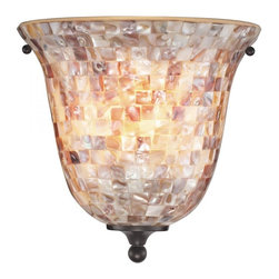 Elk Cornerstone - One Light Oil Rubbed Bronze Mosaic Glass Wall Light - One Light Oil Rubbed Bronze Mosaic Glass Wall Light