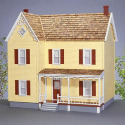 Real Good Toys - Real Good Toys Green Acres Dollhouse Kit - 1 Inch Scale - 1700-MM - Shop for Dollhouses and Dollhouse Furnishings from Hayneedle.com! Representing the height of rural style the Real Good Toys Green Acres Dollhouse Kit - 1-Inch Scale offers a dozen spacious rooms and a charming 19-inch porch. Partial front-opening access and an impressive 9.438-inch floor-to-ceiling height make this house the perfect gathering place for figurines. Any doll owner would be proud to display this stately model. The kit will take approximately 30 hours to assemble and finish. This traditional 3-story house is available in two different durable construction options. Choose between milled plywood and MDF wall finishes. The decorative gingerbread porch and other exceptional details reflect the uncompromising craftsmanship that went into the creation of this model adding fanciful form to an already handsome design. It features pre-assembled windows and doors moveable room dividers wooden shingles and sturdy 0.375-inch exterior walls and grooved sidewalls. Recommended supplies include a hammer glue masking tape sandpaper paint brushes ruler and brads. This exquisite kit is suitable for use by collectors. As it includes small pieces it's not recommended for children under the age of 3. About Real Good ToysBased in Barre Vt. Real Good Toys has been hand-crafting miniature homes since 1973. By designing and engineering the world's best and easiest to assemble miniature homes Real Good Toys makes dreams come true. Their commitment to exceptional detail the highest level of quality and ease of assembly make them one of the most recommended names in dollhouses. Real Good dollhouses make priceless gifts to pass on to your children and your children's children for years to come.