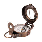 Indiana's Compass - Bring out your inner steampunk style with this fully functioning compass. Made from antiqued brass, the compass folds to a compact pocket size and can even be slung through a belt loop so you can take it with you on your next adventure. Onward, ho!