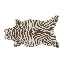 The Rug Market - Zebra Shaped area rug -