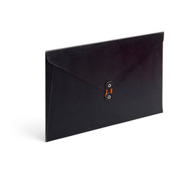 Poppin - Soft Cover Folio, Black - Forget vanilla manila. In your choice of brilliant colors, each of these soft cover folios opens to reveal bright white inside and features a colorful coordinating string closure. Whether you're transporting multimillion-dollar contracts or clipped coupons, carry your papers in high style.