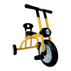 Italtrike - Yellow Tricycle For Ages 4 To 6 - Made in Italy. Yellow. Recommended for ages 4 to 6 years. Comfortable, modern handles. High quality painted steel with molded construction. Injection molded tires. Child-safe construction. Max rider weight: 77  lbs.. Seat Height: 15.74 in.. Back Support Height: 22.83 in.. 32 in. W x 22 in. D x 27 in. H (24 lbs.)Created for children between four and six years of age, the Pilot 300 Tricycle represents a more grown-up vehicle for kids. With the same basic style as Pilot 100 and Pilot 200, these tricycles are a larger version that older kids can enjoy! Its molded construction means its child-safe, yet durable all the same. Whether used at home, on the playground or at school, this tricycle will give children a learning experience filled with fun!
