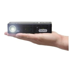 """AAXA Technologies - P4X DLP Pico Projectors - The AAXA P4-X pico projector combines ultra-compact long-lasting LED projection technology a built-in multimedia player and an HDMI port to become a mobile projection power-house. The P4-X plays high-resolution videos pictures and text through a micro SD Card or USB memory stick or accepts a digital data source from multiple input sources. The P4-X is capable of producing a dazzling picture up to 80"""""""". Using Texas Instrument's DLP image core along with AAXA's Vibrant Color Technology the P4-X deploys a brilliant 80 lumen high-contrast image with a powerful multimedia processor the P4 is capable of playing 720p videos high resolution pictures and music. Additional input sources include an HDMI mini-port VGA input and Composite video input."""