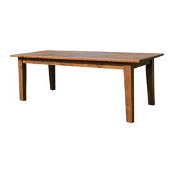 Fable Porch Furniture - Shaker Farmhouse Dining Table, Golden-Stain, 42 X 96 X 30 - Distressed Shaker Dining Table