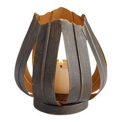 Cyan Design - Variegated Flame Candleholder - Small - Small variegated flame candleholder - graphite silver