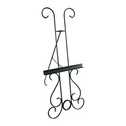 Grace - New Orleans Wrought Iron Picture Display Easel - GMC-EASEL-3 BR - Shop for Art Easels from Hayneedle.com! Spice up your speakeasy (or living room) with a jazzy splash of color using the New Orleans Wrought Iron Picture Display Easel. This sturdy wrought iron easel features decorative New Orleans-style accents between the front legs and at the apex. Perfect for displaying either funky jazz-age abstracts or enlarged snapshots of the kids and pets this easel becomes a uniquely expressive accent piece in any room. Available in your choice of four distinctive finishes.About Grace Manufacturing Company Grace Mfg. Co. manufactures metal and wrought iron furniture from their headquarters in Rome Georgia. For over 25 years their artisans have created durable metal and wrought iron bar stools racks beds dining chairs dinettes sets and tables. Their heirloom-quality wrought iron furniture is hand crafted by skilled metal smiths at their Rome Georgia plant. Made in the United States of America.