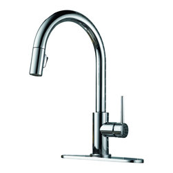 Delta - Trinsic Single Handle Pull-Down Kitchen Faucet with Diamond Seal Technology - Delta 9159-DST Trinsic Single Handle Pull-Down Kitchen Faucet with Diamond Seal Technology in Chrome. Sleek, minimalistic design makes the Trinsic Kitchen Collection the perfect complement to today's modern home.  MagnaTite?� docking keeps the kitchen pull-down spray wand firmly in place with a powerful integrated magnet, so it stays docked when not in use.  Delta's exclusive DIAMOND?� Seal Technology uses a valve with a tough diamond coating to bring you a faucet built to last up to five million uses.  Plus, it keeps water inside the faucet out of contact with potential metal contaminants.  Who knew a faucet could be just as beautiful on the inside?Delta 9159-DST Trinsic Single Handle Pull-Down Kitchen Faucet with Diamond Seal Technology in Chrome, Features:MagnaTite  docking keeps the kitchen pull-down spray wand firmly in place with a powerful integrated magnet, so it stays docked when not in use.