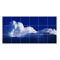 Picture-Tiles, LLC - Sky Clouds Picture Bathroom Shower Tile Mural  18 x 36 - * Sky Clouds Picture Bathroom Shower Tile Mural 1430