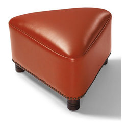 Grandin Road - Trista Footstool - Thoughtfully proportioned for go-anywhere versatility. Crafted using custom-dyed textured leather. Individually hand-tacked nailhead trim. Supportive cushioning. Dark espresso wood finish. The Trista Footstool makes a handsome addition anyway you look at it. This ottoman is a beautiful way to punctuate a room. .  .  .  .  . Imported.