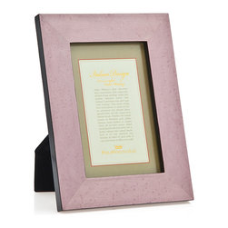 """Philip Whitney - Lavender Burl Marquet Frame, 5""""x7"""" - Bring a soft wash of color to your home using the 5-by-7 inch Lavender Burl Marquet Frame. This frame's painted burl wood in solid lavender gives it a simple, pretty look that pairs well with farmhouse decor. For a bright contrast, display it among neutral design elements."""