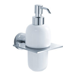 Kraus - Kraus Imperium Wall-Mounted Ceramic Lotion Dispenser - Add a touch of elegance to your bathroom with a stylish Wall-mounted Ceramic Lotion Dispenser from Kraus.