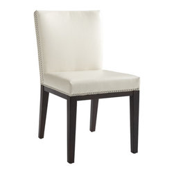 "Sunpan Modern - Vintage Parsons Chair (Set of 2) - Features: -Frame: Solid wood.-Unique double row of silver nail head trim.-Finish: Espresso.-Please note that although every attempt has been made to ensure accuracy, all dimensions are approximate and colors may vary.-Please note that the leg color on Sunpan dining chairs does not always match the dining table color.-Vintage collection.-Collection: Vintage.-Distressed: No.-Upholstered Seat: Yes .-Upholstered Back: Yes .Dimensions: -Seat height: 18"".-Overall Product Weight: 37.5 lbs.Warranty: -This item is deemed acceptable for both residential and nonresidential environments such as restaurants, hotels, lounges, offices and reception areas. Please note that this item carries the manufacturer's standard ONE YEAR WARRANTY from the date of purchase. Please contact Wayfair customer service or sales representatives for further information."