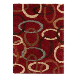 "Surya Rugs - Rosario Plush Maine Made 100% Polypropylene Red Rug RSO-4604 - 100% Polypropylene. Style: Plush. Rugs Size: 2'7"" x 7'3"". Note: Image may vary from actual size mentioned."