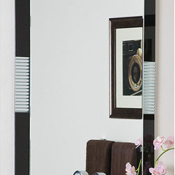 None - Francisco Large Frameless Wall Mirror - The beauty of modern design is encompassed in the Francisco Large Frameless Wall Mirror. Do not be fooled by the look of a frame as this beautiful hand made mirror sits atop another mirror creating a framed effect with decorative glass surrounding.