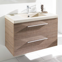 Ambiance Bain - Ambiance Bain | Divine Vanity with Drawers - Made in France by Ambiance Bain.The Divine Vanity with Drawers provides a convenient and stylish platform for sink and storage organization. This durable vanity comes with everything needed to reinvent a bath space. The bacteria-resistant counter top and sink in combination with the ever customizable body and sides enable this modern bathroom piece to be both beautiful and practical. Also available with doors.Product Features: