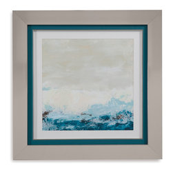 Bassett Mirror - Bassett Mirror Framed Under Glass Art, Coastal Currents II - Coastal Currents II