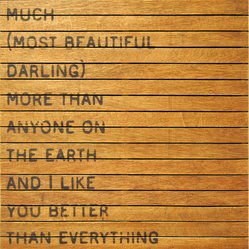 I Love You So Much Slatted Wood Distressed Wall Art