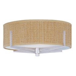 ET2 - ET2 E95400-101 Elements 3-Bulb Flush Mount Indoor Ceiling Fixture - Fabric Shade - Product Features:
