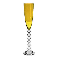Baccarat - Baccarat Vega Flutissimo Flutes Amber - Baccarat Vega Flutissimo Flutes AmberBaccarat Crystal can trace its history back to 18th century France, where in the village of Baccarat a glassworks facility was established. Since 1794 they have been producing some of the world,s finest crystal, using age old methods. Baccarat crystal glasses have been produced for kings and queens alike. Their delicate detailing and unparalleled quality are sought after by collectors around the world, and now they can be part of your home at affordable prices