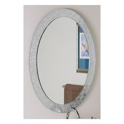 None - Frameless Designer Wall Mirror - Add an elegant touch to any interior space with the frameless wall mirrorMirror crafted of 2 levels of thick, strong 3/16-inch glass and metalWall mirror's metal encased in glass border created by a precise manufacturing process