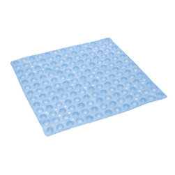 "Mabis DMI Healthcare - Mabis DMI HealthSmart No-Skid Shower Mat, 21"" Light Blue Square - Mabis DMI HealthSmart No-Skid Shower Mat reduces the risk of falling or sliding in tub as it consist of slip-resistant suction cups that anchor mat to tub surface. It is made of durable vinyl which resists dirt and mildew."